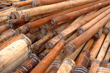 Natural hardwood poles contain no toxic chemicals.